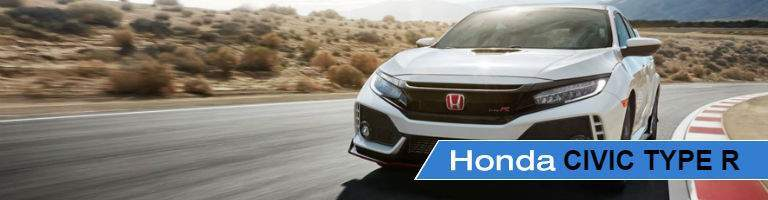 2018 Honda Civic Type R driving on a track in the desert