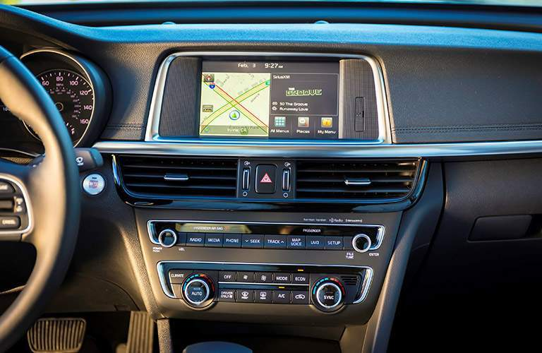 2017 Kia Optima Hybrid interior navigation system