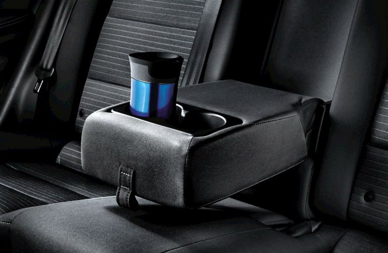 rear center console and cupholder of 2018 kia forte interior