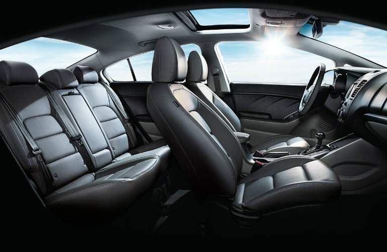 view of the seating area of the 2018 Kia Forte