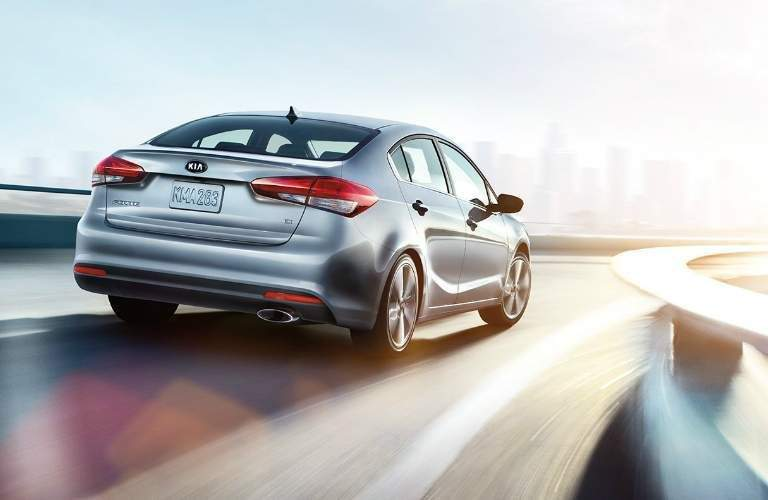 2018 Kia Forte rear driving on the road