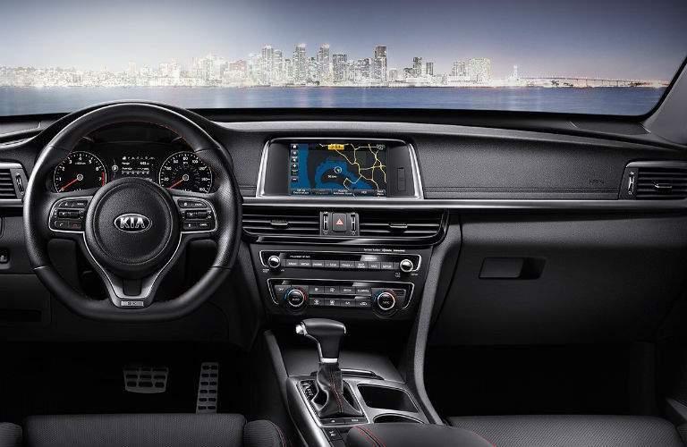 2018 Kia Optima interior front dash view