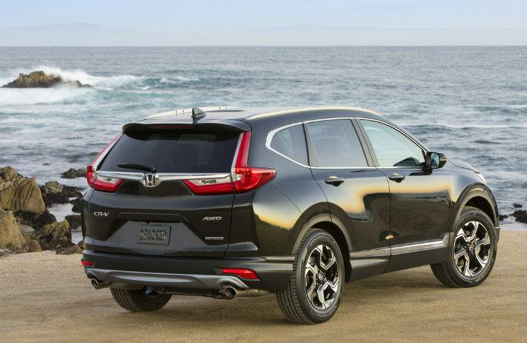 2018 honda cr-v shown from rear on coast near atlantic city nj