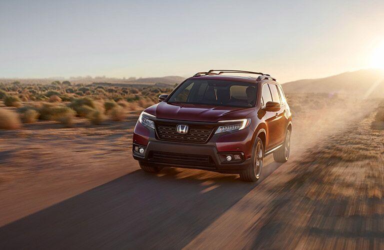 2019 Honda Passport on a Dirt Trail