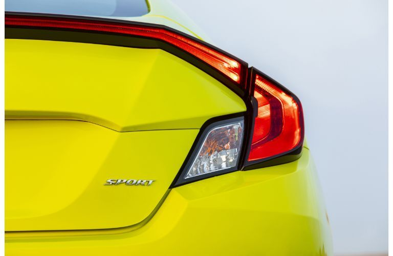 2019 Honda Civic Coupe exterior rear closeup of taillight design