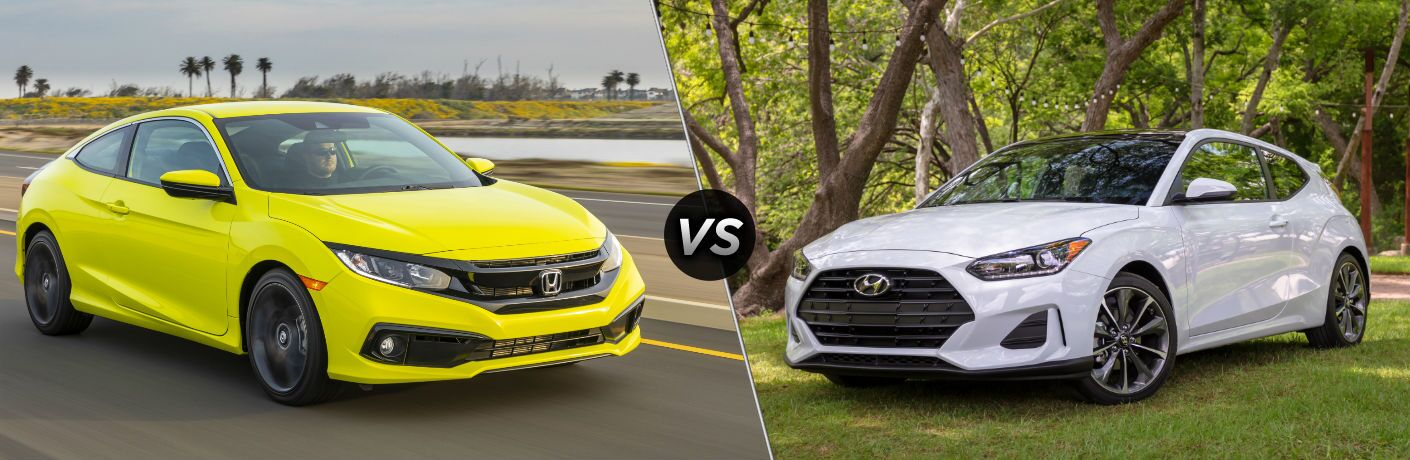 2019 Honda Civic Coupe vs 2019 Hyundai Veloster