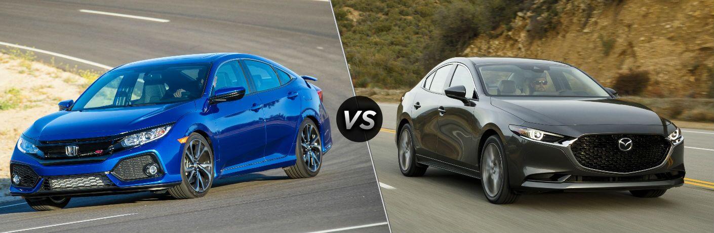 2019 Honda Civic Si vs 2019 Mazda3 Sedan