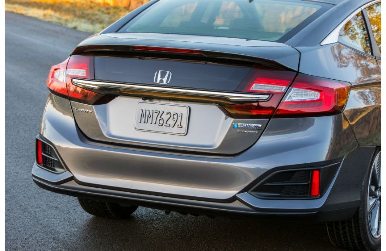 2019 Honda Clarity Plug-In Hybrid exterior rear shot showing taillight, trunk, and bumper design