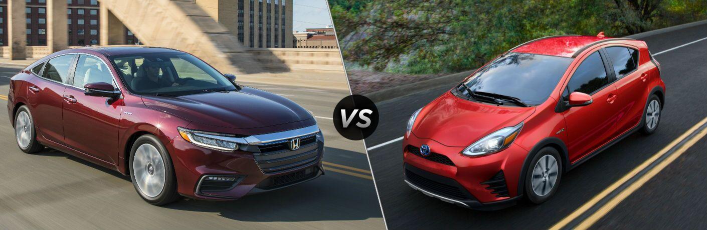 2019 Honda Insight vs 2019 Toyota Prius c