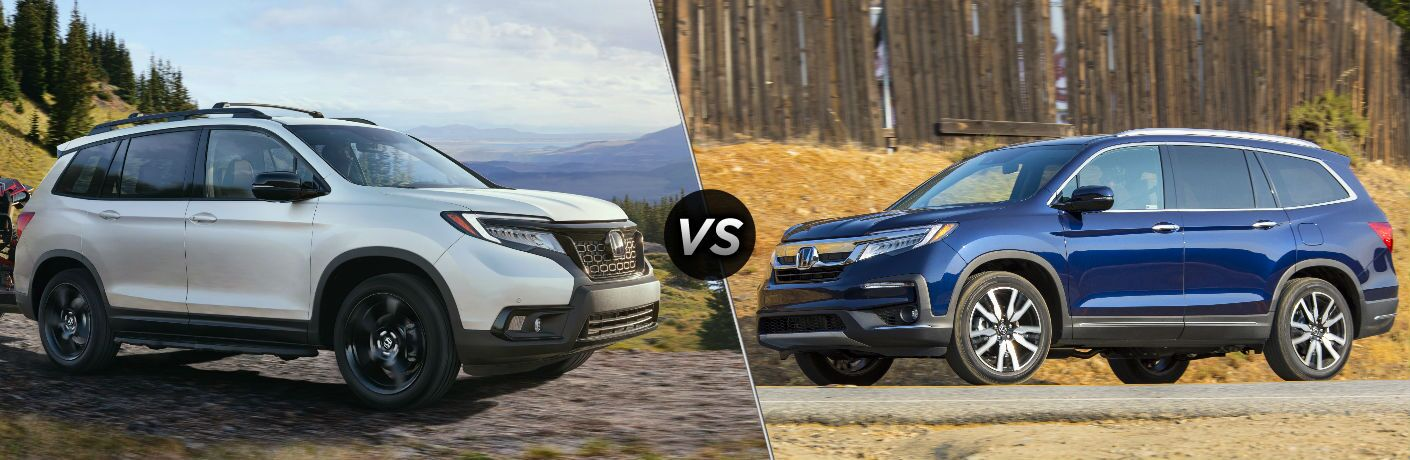 2019 Honda Passport vs 2019 Honda Pilot Elite