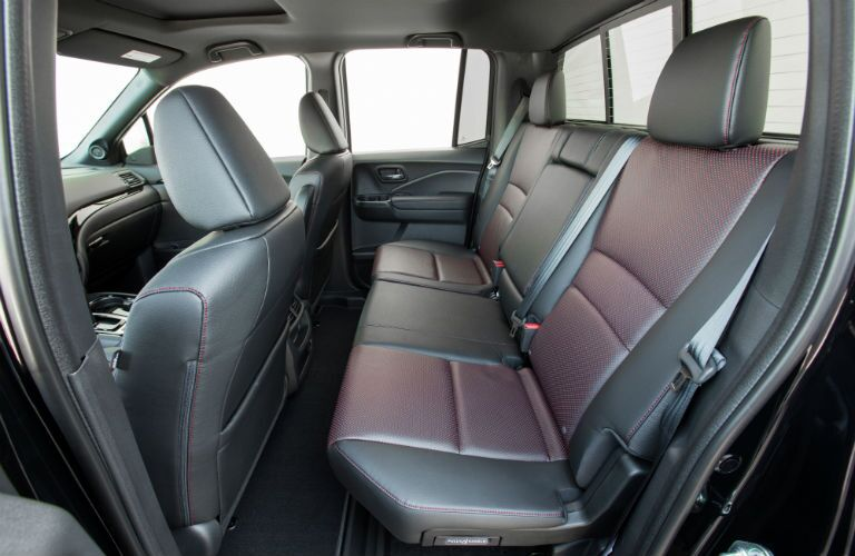 2019 Honda Ridgeline interior view of back seating upholstery