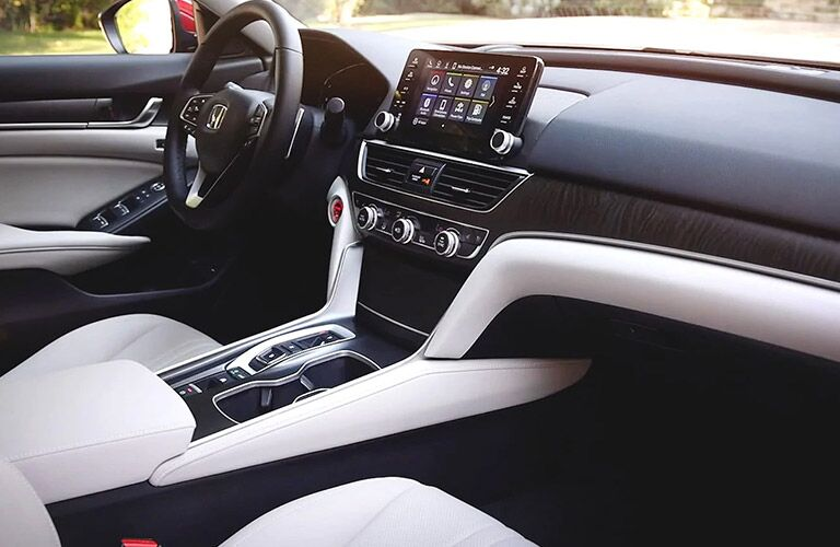 Steering wheel and interior of the 2021 Honda Accord