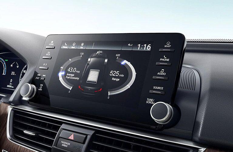 Touchscreen of the 2021 Honda Accord
