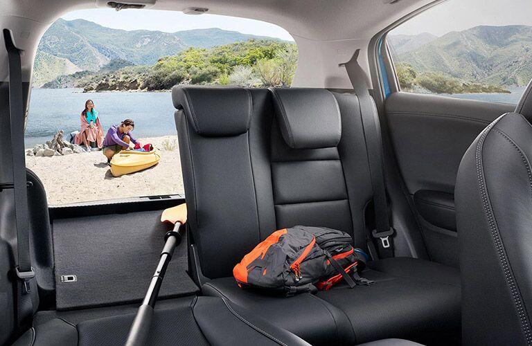 2021 Honda HR-V back seats partly folded down