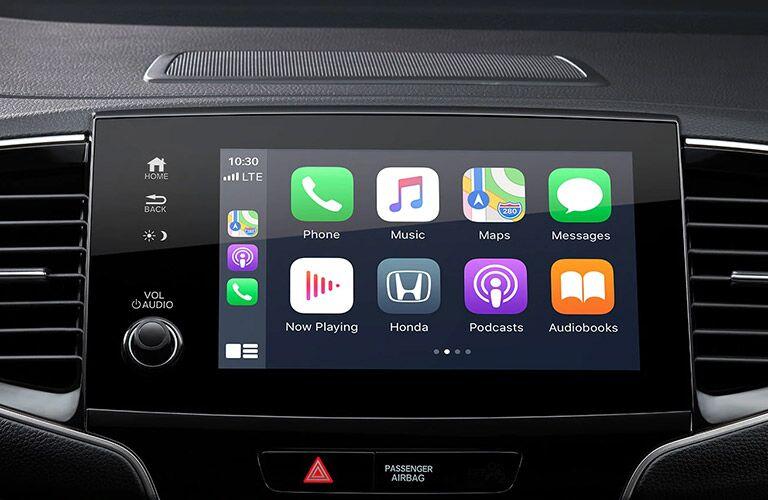 Close Up of 2021 Honda Pilot Touchscreen Display with Apple CarPlay