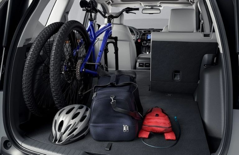 2021 Honda CR-V Hybrid Rear Cargo Space with a Bike