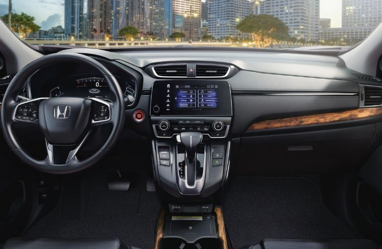2021 Honda CR-V steering wheel and dashboard