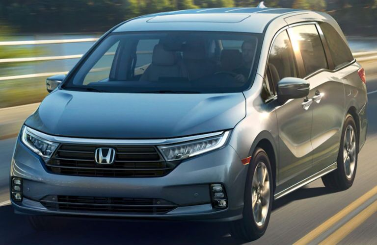 2021 Honda Odyssey Elite in gray