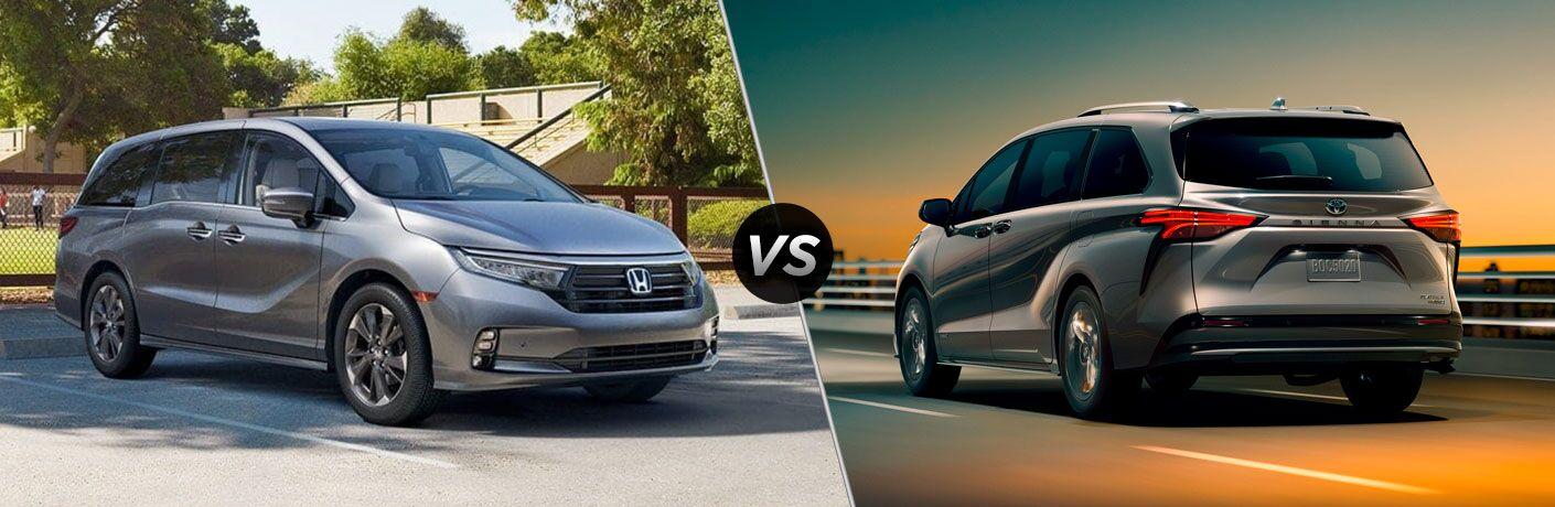 2022 Honda Odyssey vs 2021 Toyota Sienna