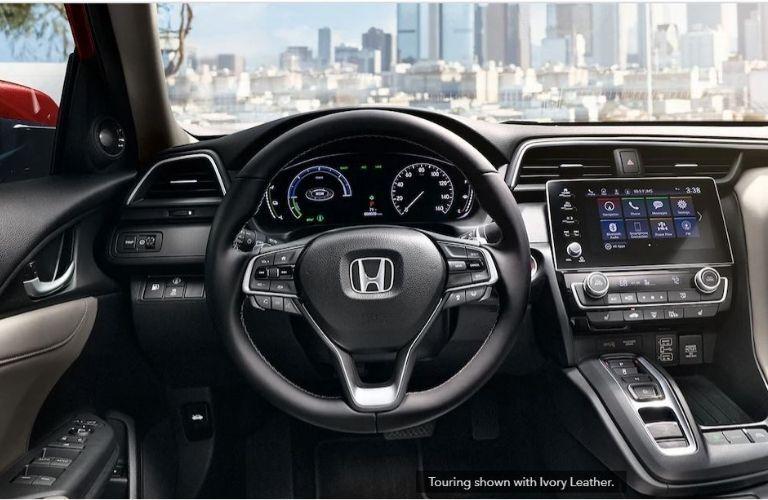 2022 Honda Insight steering wheel and dashboard