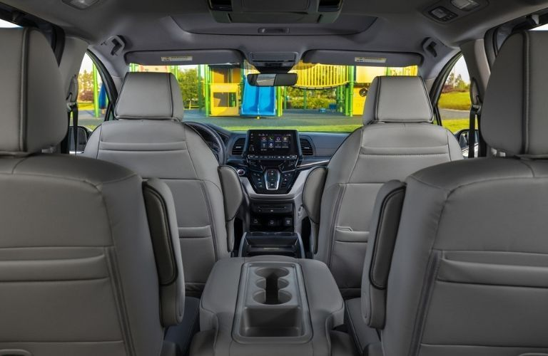 Rear to Front View of 2022 Honda Odyssey Interior