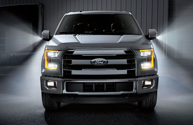 front grille of 2017 ford f-150 pickup truck