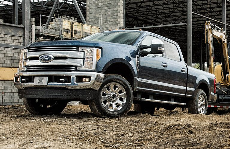 2018 ford super duty front three quarter view