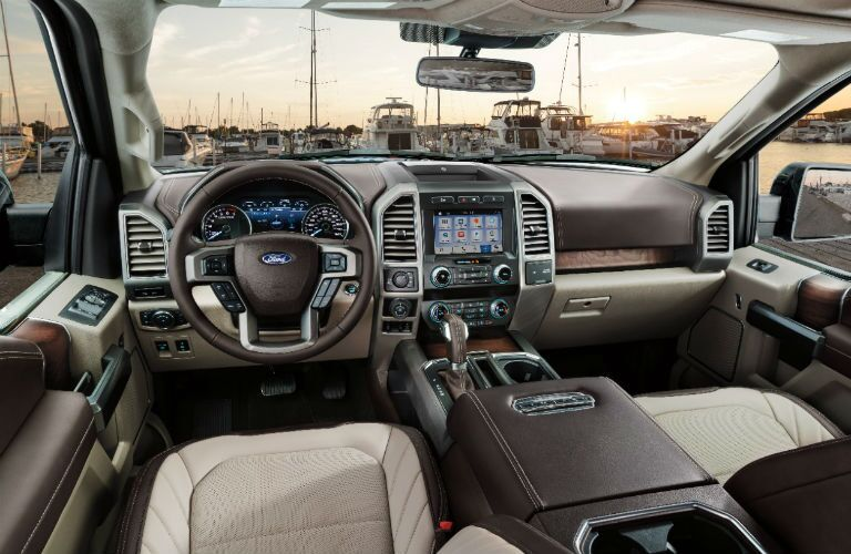 interior dashboard of 2019 ford f-150