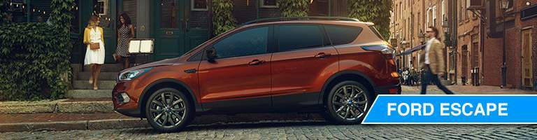 2018 ford escape parked on street with man approaching profile view