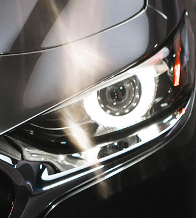 2019 Mazda3 front headlight detail