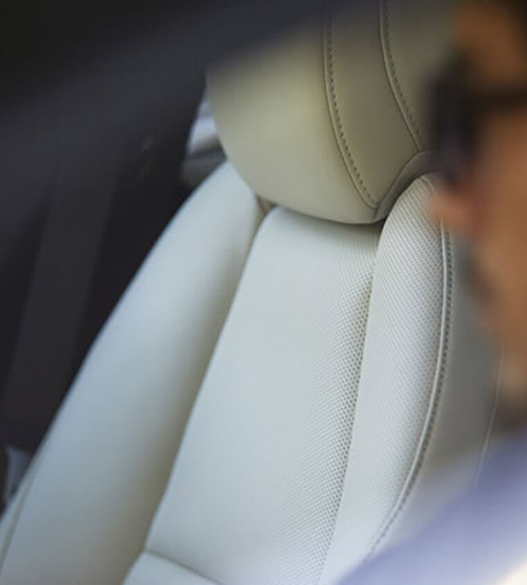 2019 Mazda3 detail shot of a seat
