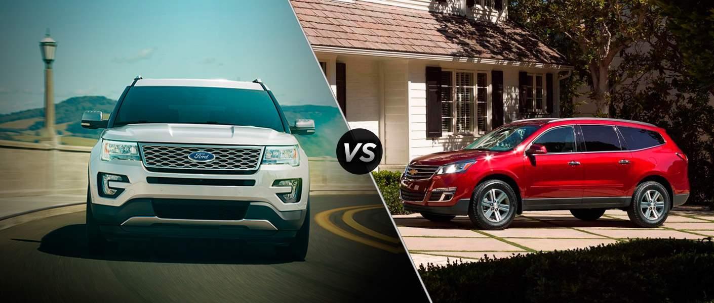 2017 Ford Explorer vs 2017 Chevrolet Traverse