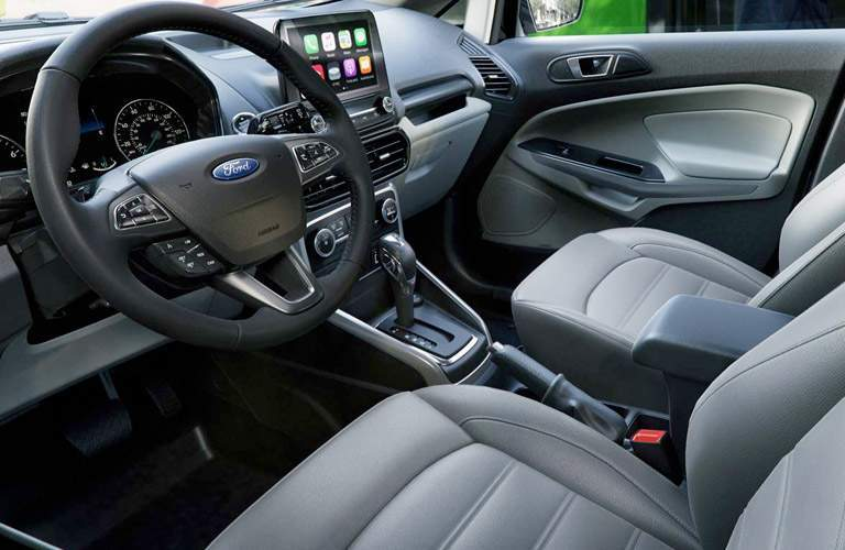 2018 Ford EcoSport interior view dash and display front seats