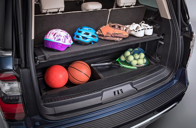 2018 Ford Expedition Max Interior Cargo Hold with Sporting Equipment