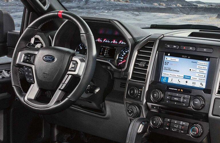 2018 Ford F-150 Raptor interior steering wheel and display
