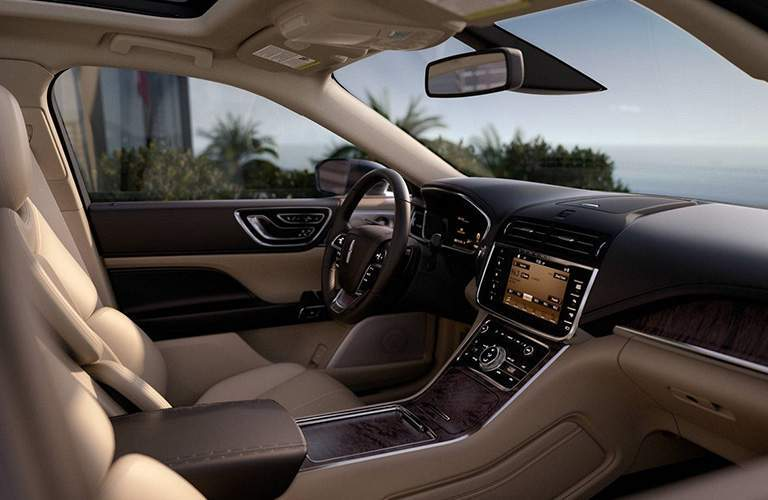 2018 Lincoln Continental front seat interior dash and display