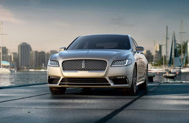 2018 Lincoln Continental silver front exterior