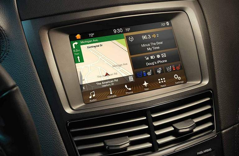 2018 Lincoln MKT infotainment system close-up