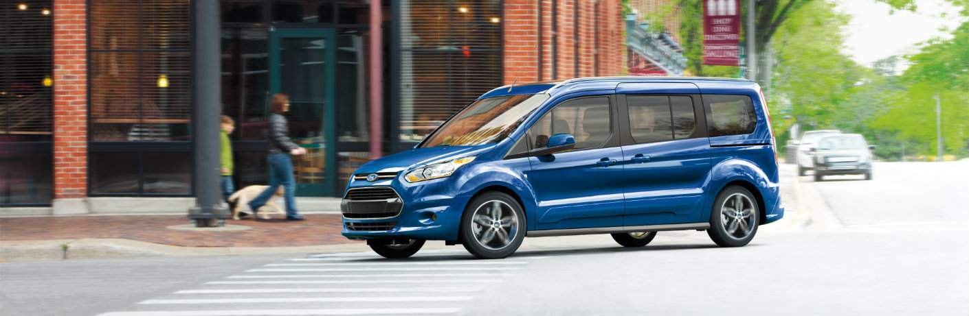 2018 Ford Transit Connect side blue on road