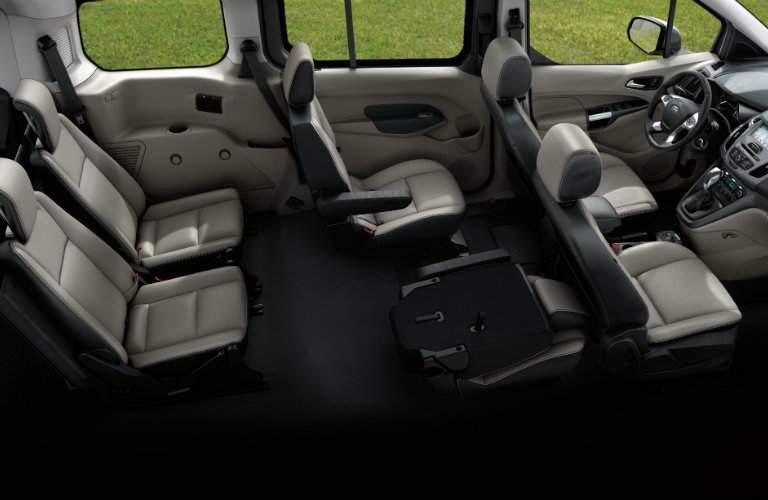 2018 Ford Transit Connect interior seating area