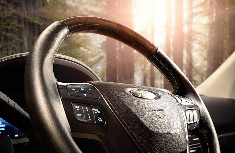 steering wheel of 2019 ford explorer