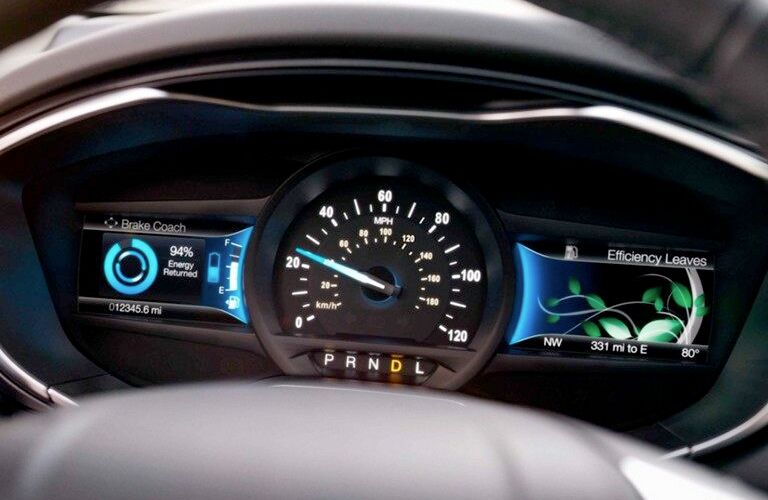 instrument cluster and gauges of 2019 ford fusion hybrid