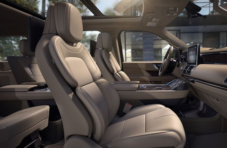 side view of front interior of 2019 lincoln navigator