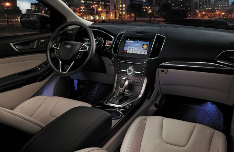 2017 Ford Edge Front Cabin Nighttime
