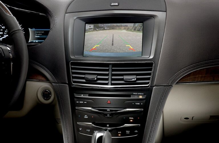 Rear view camera is standard for Lincoln MKT