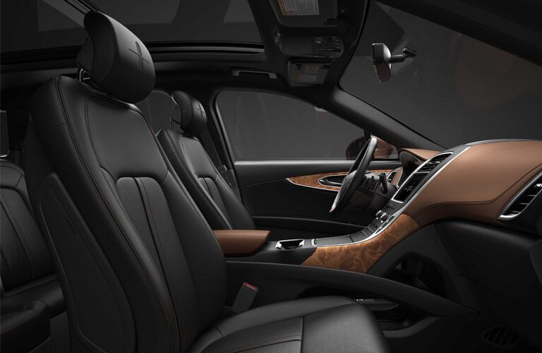 real wood trim is available in top of the line models of 2017 MKX