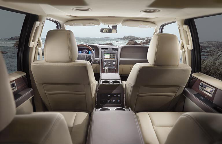 Up to eight passengers can ride in the 2017 Navigator