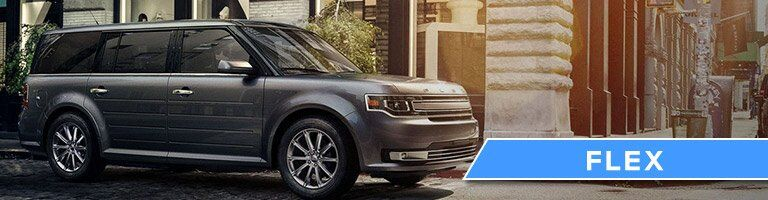 2017 Ford Flex side exterior view gray
