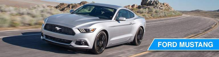 2017 Ford Mustang silver front view