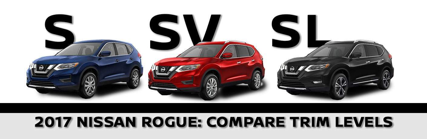 2017 Nissan Rogue trims S SV SL Midnight Edition